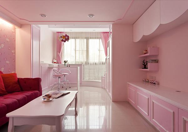 26平粉嫩甜蜜kitty公主房