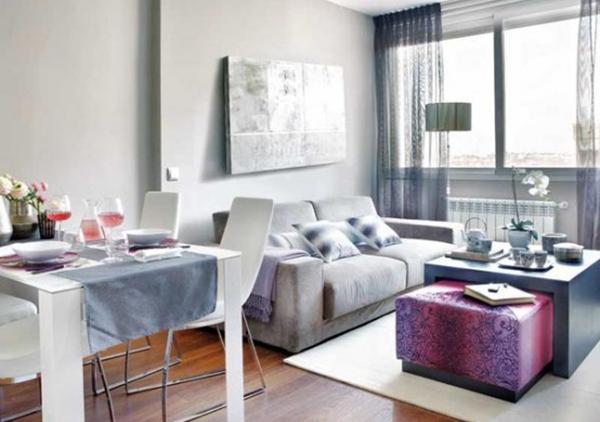 粉紫调调的时尚小公寓装修
